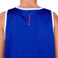 Boys'/Girls' Intermediate Reversible Basketball Tank Top - Blue/White