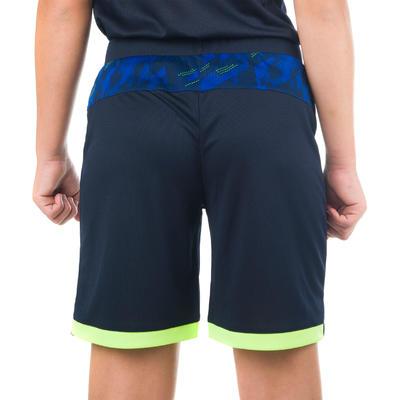 B500 Boys'/Girls' Intermediate Basketball Shorts - Digital Navy/Yellow
