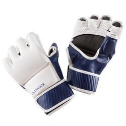 Handschoenen 100 wit/blauw