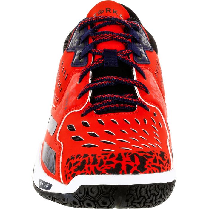 Chaussures de handball H500 adulte rouge / bleu