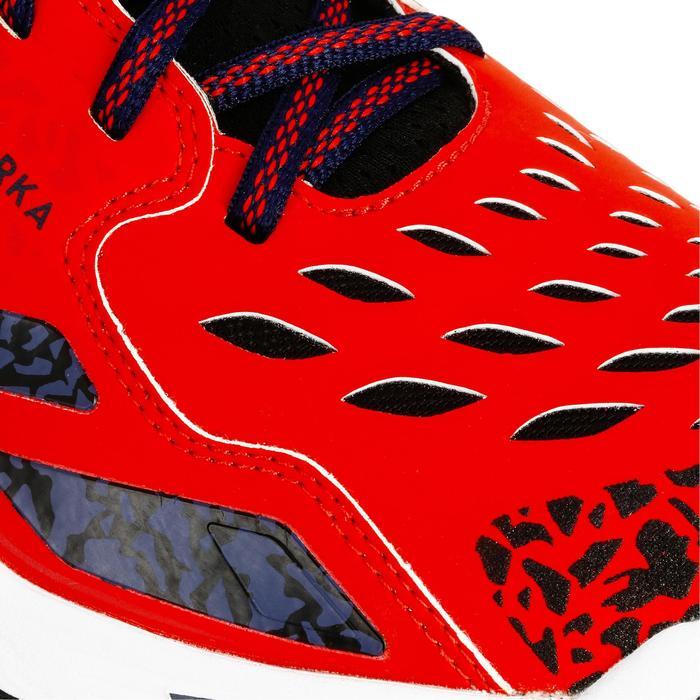 Chaussures de Handball H500 adulte noires et rouges - 1325446