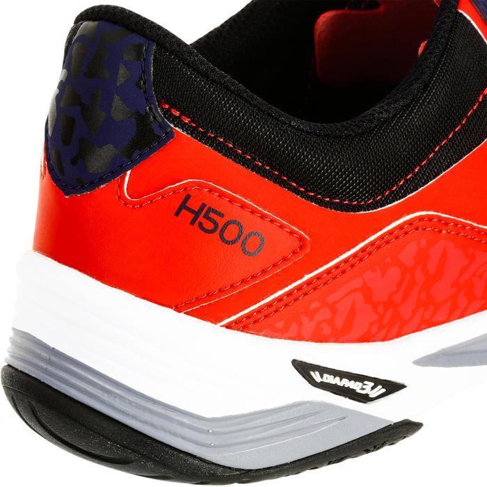 Chaussures de Handball H500 adulte noires et rouges - 1325447