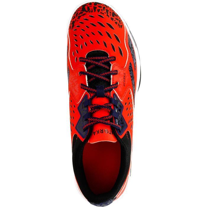Chaussures de Handball H500 adulte noires et rouges - 1325448