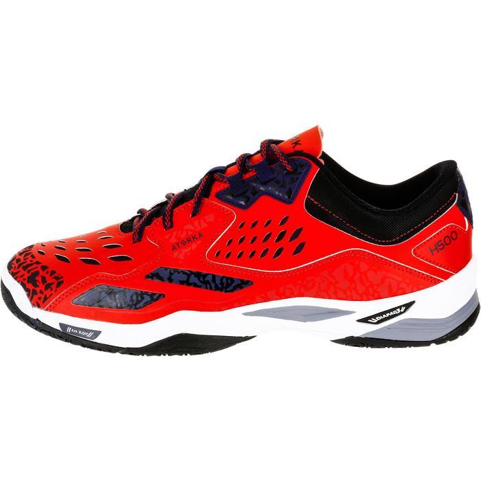 Chaussures de Handball H500 adulte noires et rouges - 1325449
