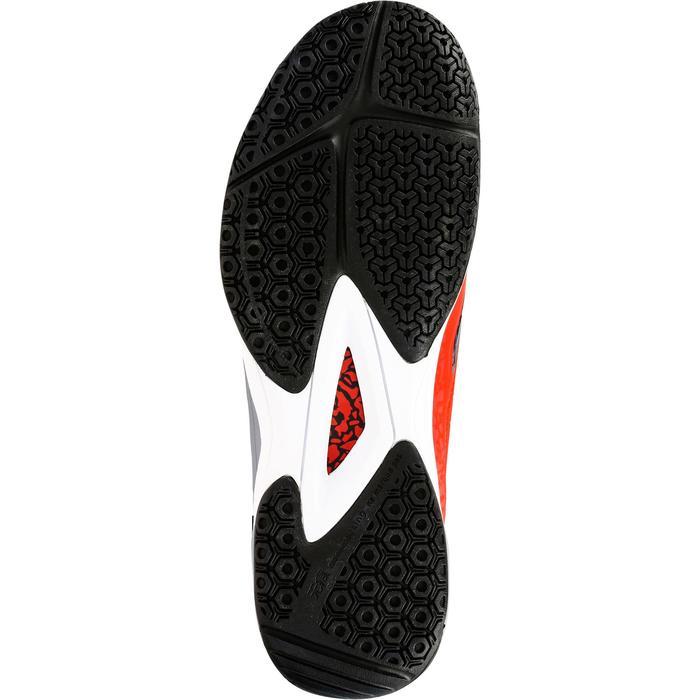 Chaussures de Handball H500 adulte noires et rouges - 1325451