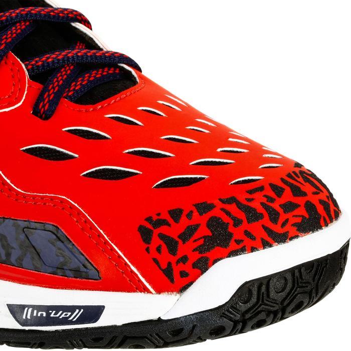 Chaussures de Handball H500 adulte noires et rouges - 1325452