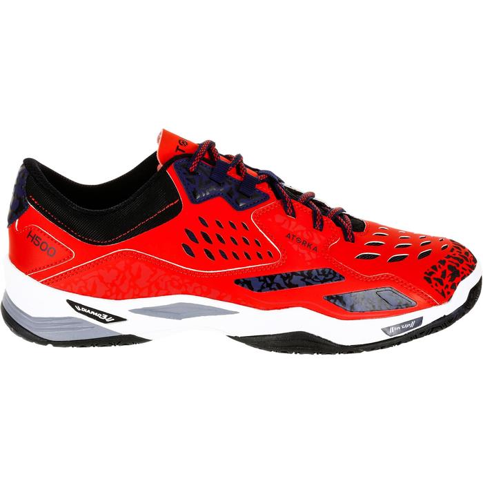 Chaussures de Handball H500 adulte noires et rouges - 1325453