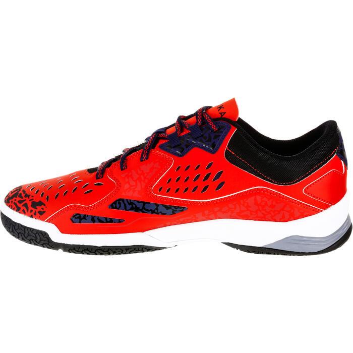Chaussures de Handball H500 adulte noires et rouges - 1325454
