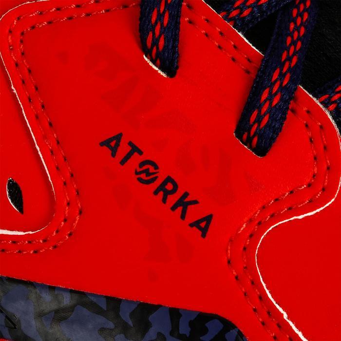 Chaussures de Handball H500 adulte noires et rouges - 1325456