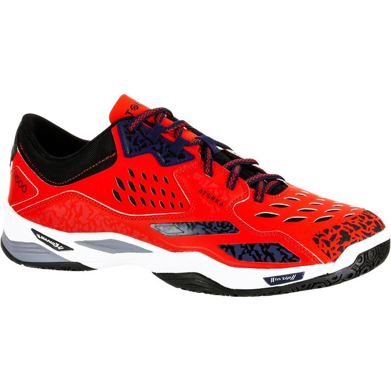 H500 Adult Handball Shoes - Red/Blue