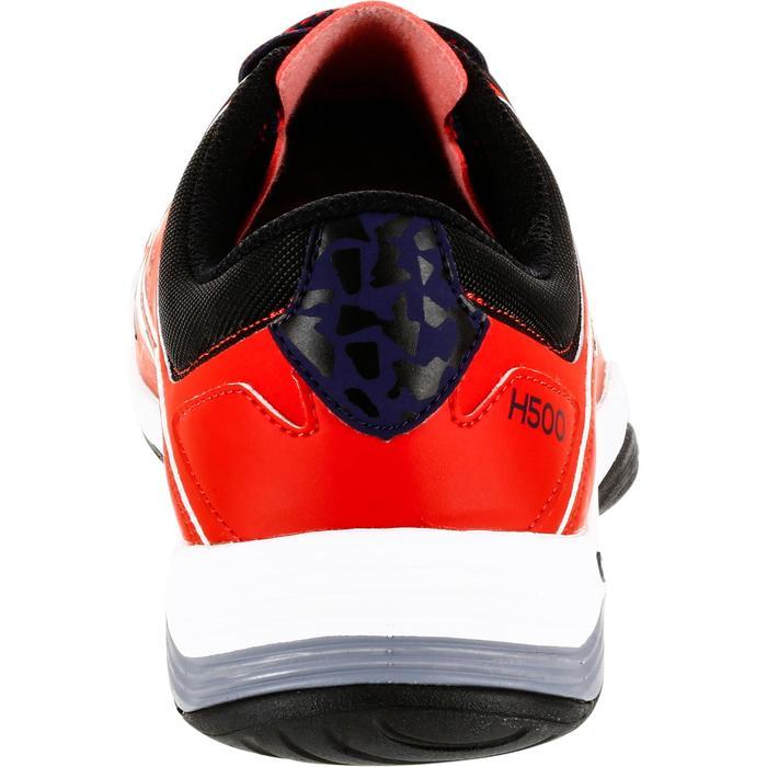 Chaussures de Handball H500 adulte noires et rouges - 1325458