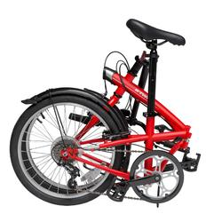 Tilt 120 Folding Bike - Grey Bright red Unique size