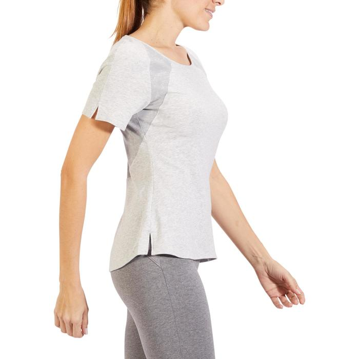 T-Shirt 520 manches courtes Gym & Pilates femme gris chiné clair - 1325514