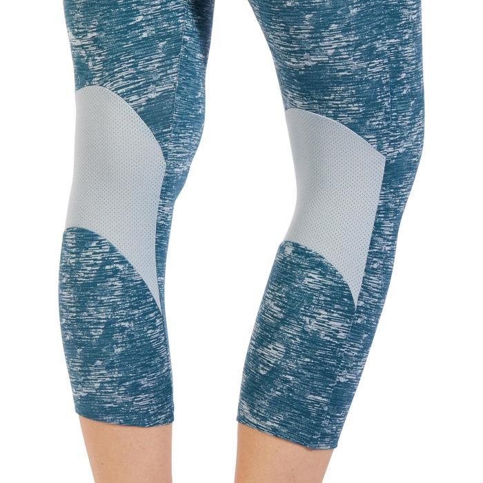 Legging 7/8 520 Gym & Pilates femme bleu grisé chiné - 1325518