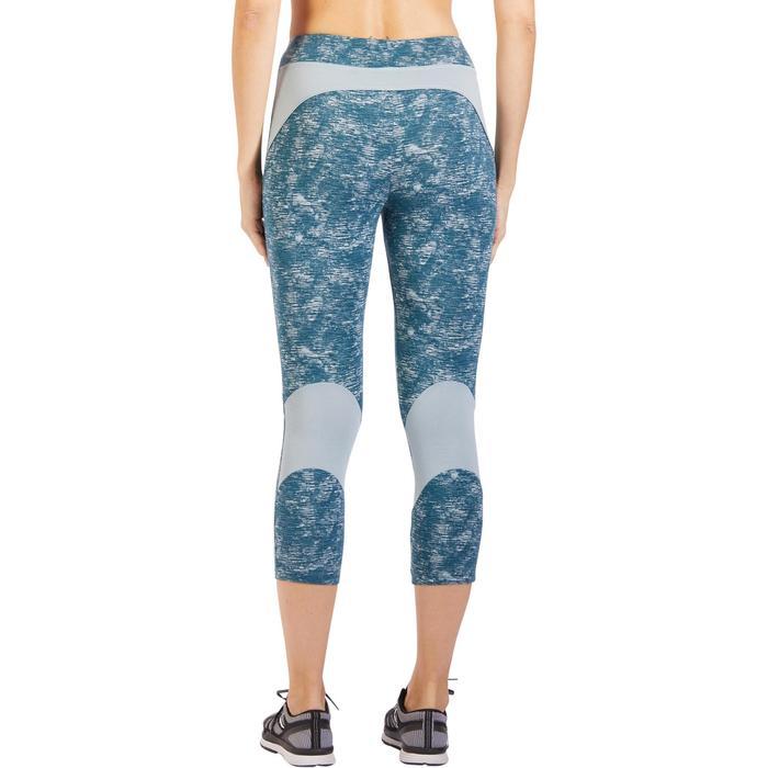 Legging 7/8 520 Gym & Pilates femme bleu grisé chiné - 1325519