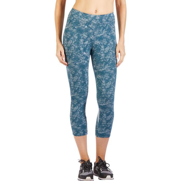 Legging 7/8 520 Gym & Pilates femme bleu grisé chiné - 1325520