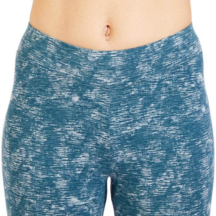 Legging 7/8 520 Gym & Pilates femme bleu grisé chiné - 1325522