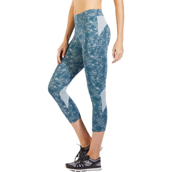 Legging 7/8 520 Gym & Pilates femme bleu grisé chiné - 1325523