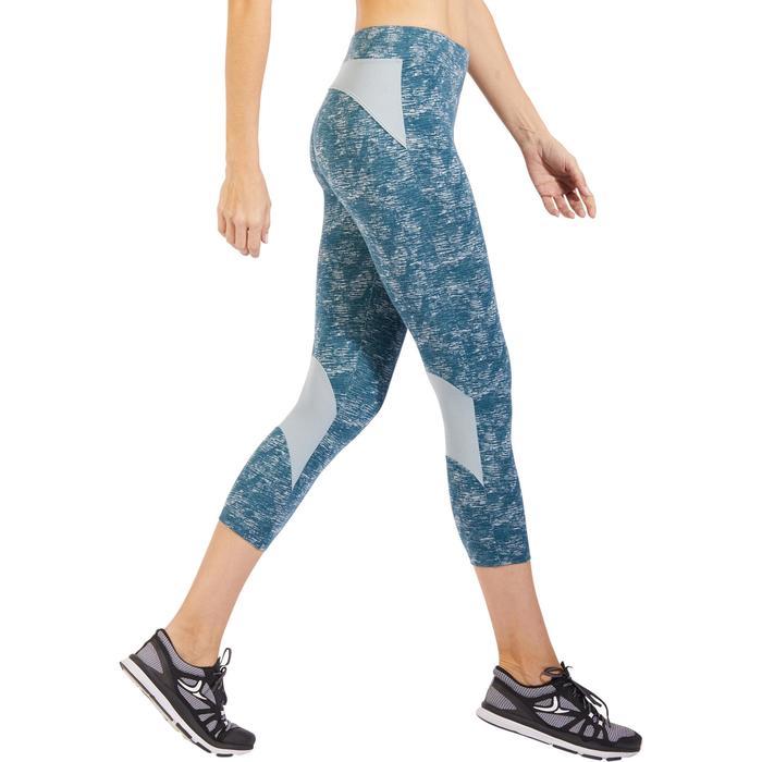Legging 7/8 520 Gym & Pilates femme bleu grisé chiné - 1325524