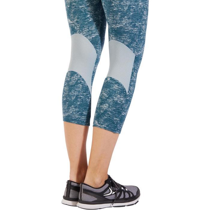 Legging 7/8 520 Gym & Pilates femme bleu grisé chiné - 1325526