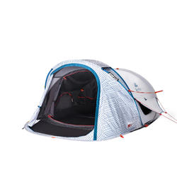 2 SECOND 2 XL FRESH&BLACK | 2 person camping tent white (China Model)