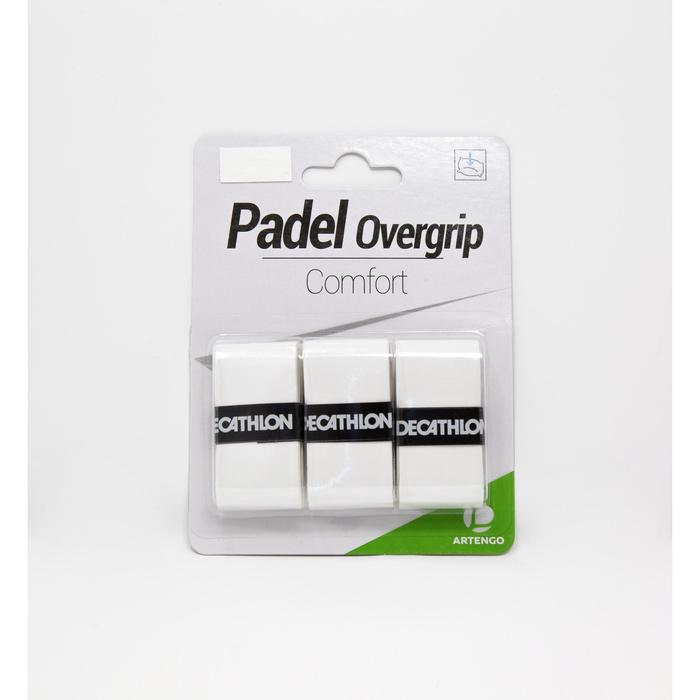 Padel overgrip comfort wit 3 stuks