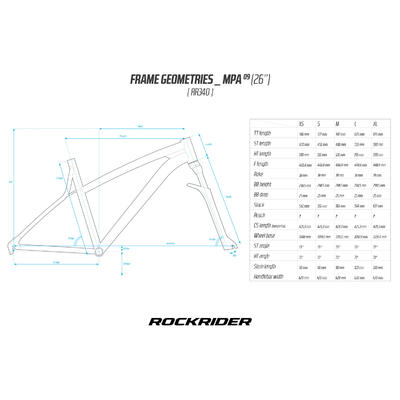 Rockrider 340 26_QUOTE_ MTB - White