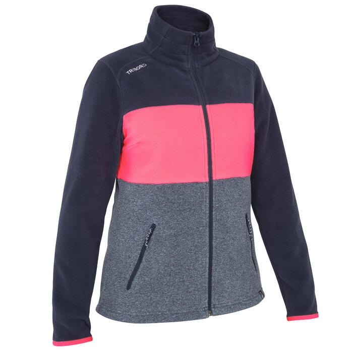 Forro polar de regata mujer RACE bloc azul rosa fluorescente