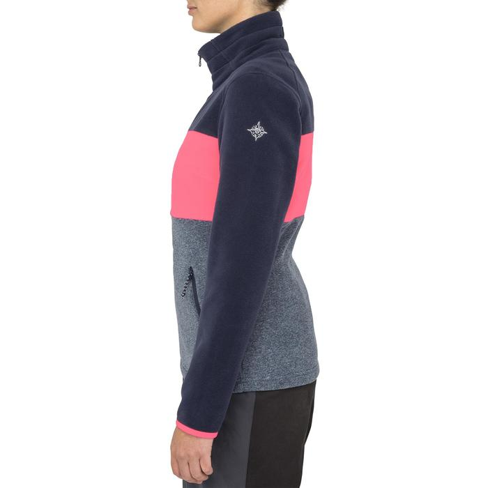 Casaco Polar de Vela RACE 100 Mulher Bloco Azul Rosa Fluorescente.