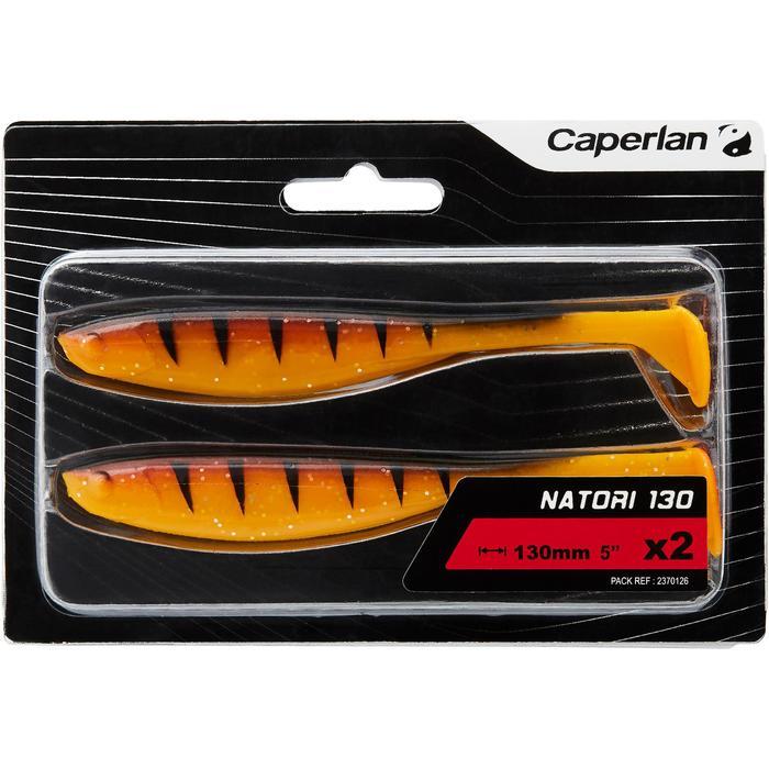 Softbaits voor kunstaasvissen Natori 130 oranje tiger 2 stuks