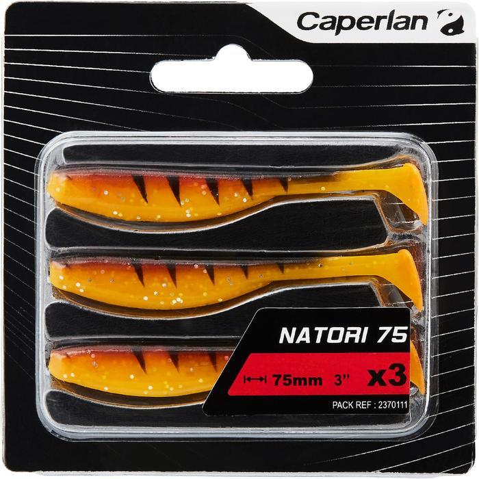 Softbaits voor kunstaasvissen Natori 75 orange tiger 3 stuks