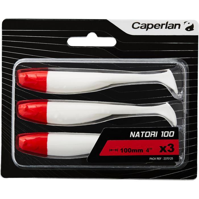 Softbaits voor kunstaasvissen Natori 100 Red Head 3 stuks