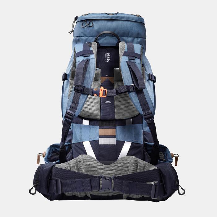 Mochila de Montaña y Trekking Trek900 Symbium 50+10 Litros Mujer Azul