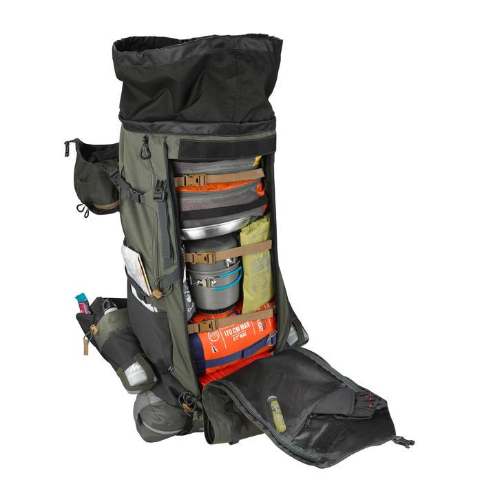 Rugzak voor bergtrekkings Trek 900 90+10 liter Symbium heren kaki