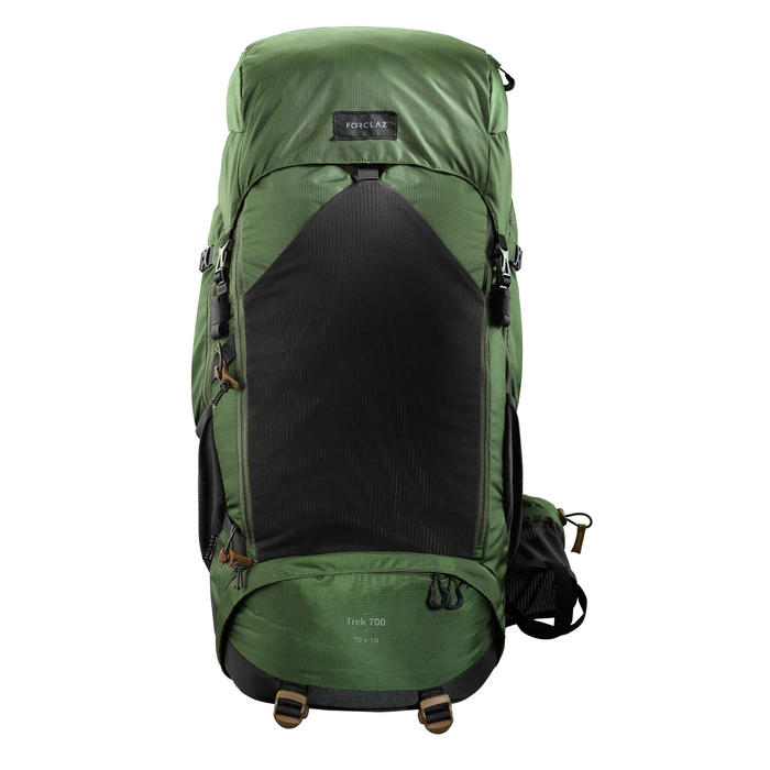 Men's mountain trekking rucksack | TREK 500 70+10L - olive