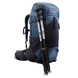 Backpack voor bergtrekking voor heren Trek 700 50+10L blauw