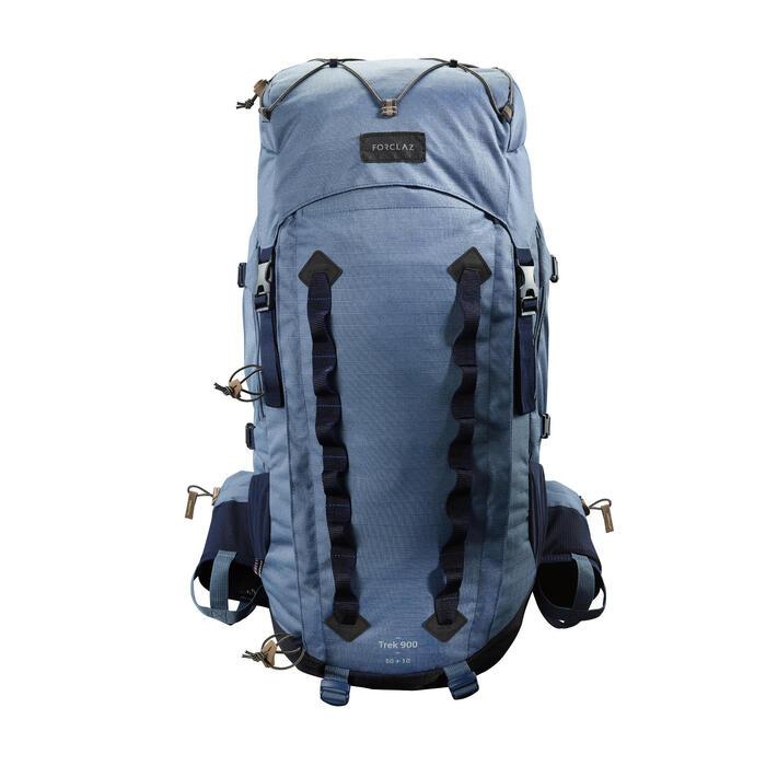 Sac à dos montagne TREK 900 50+10 femme bleu - 1325977