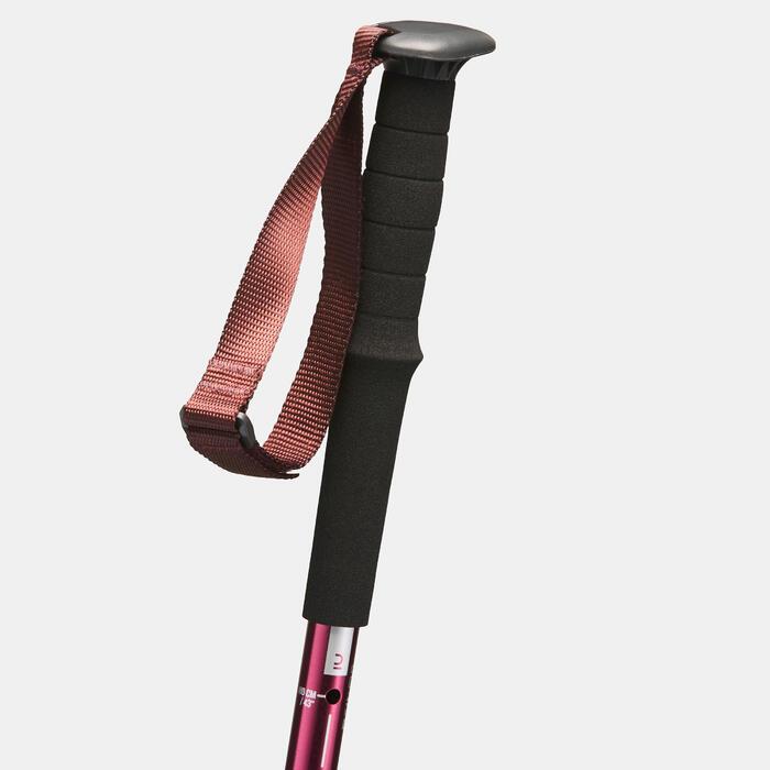 1 bâton réglage facile de randonnée nature | A200 violet