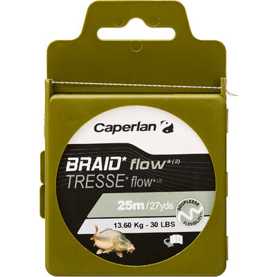 FLOW C 25m leader Carp fishing braid