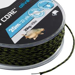Lijn voor karpervissen Lead Core 45 lbs olijf