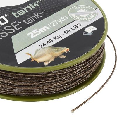 Bas de ligne Tresse pêche de la carpe TANK C 25m