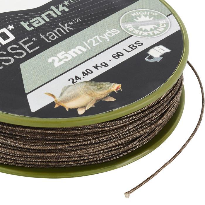 Bas de ligne Tresse pêche de la carpe TANK C 25m - 1326039