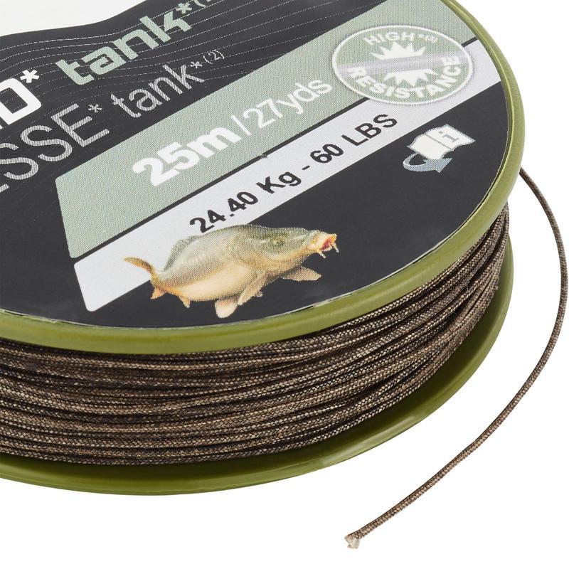 TANK C 25m braided carp fishing leader
