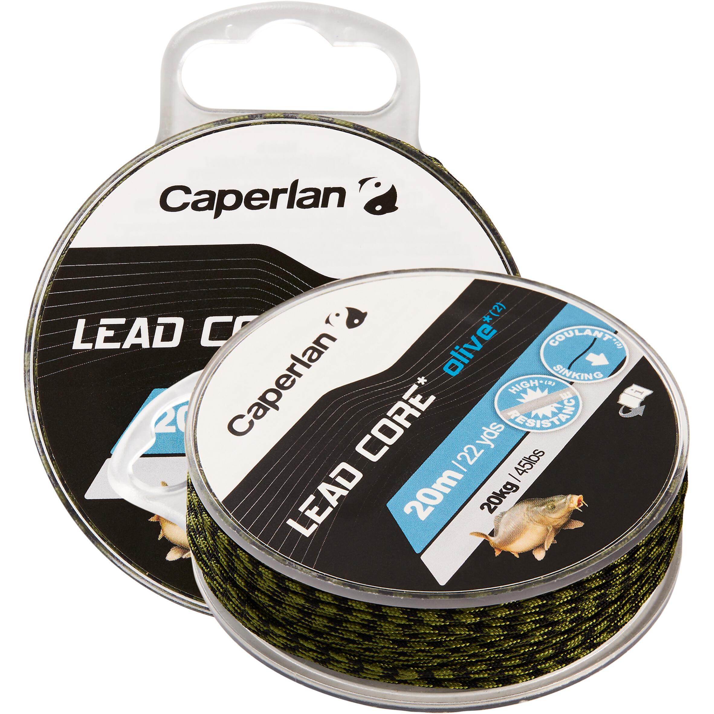 Caperlan Lijn voor karpervissen Lead Core 45 lbs olijf kopen