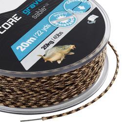 Leadcore 45 lbs gravel voor karpervissen