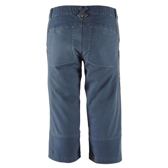 男款3/4有機棉彈性登山長褲-灰色