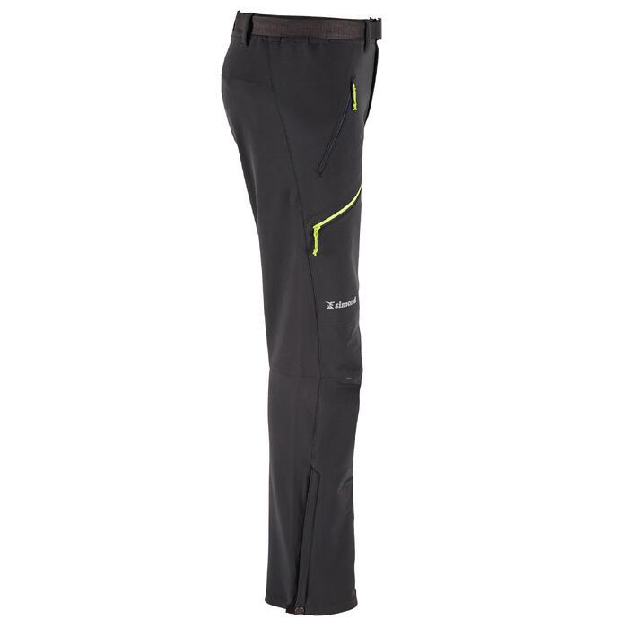 男款登山運動長褲-淺灰色