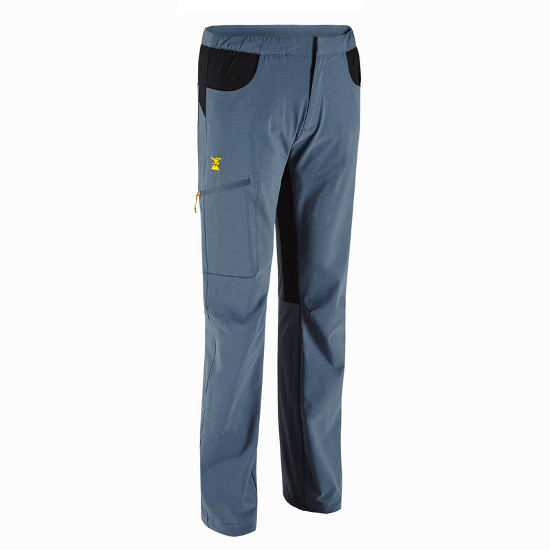 LEZECKÉ OBLEČENÍ Turistika - Strečové kalhoty Edge šedé SIMOND - Turistické oblečení