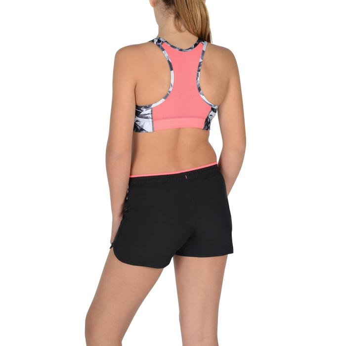 Sujetador-top S900 gimnasia niña estampado negro rosa
