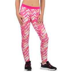 Girls' 500 Gym Leggings - Pink Print